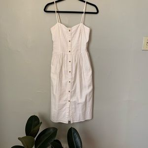 White Summer Midi Dress
